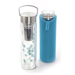 "Flowtea ""Trees""- Thermos double parois en verre 0,35L"