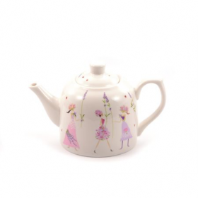 "Théière ""Flower Girls"" porcelaine 0,6L"