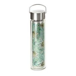 "Flowtea ""Jungle"" Thermos double parois en verre 0.35L"