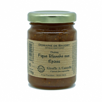 Chutney Figue Blanche & Epices - 110gr